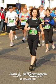 First race Birmingham half marathon 2011