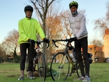 Phil Penhey and Mike Tobin Training Ride