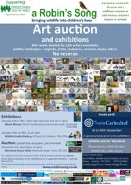 Flyer for the exhibitions and auction