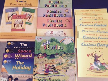 Some of the books we have bought with the donations