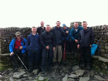 The Team at the summit of Ingleborough