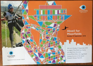 Moorfields abseil promotion graphic