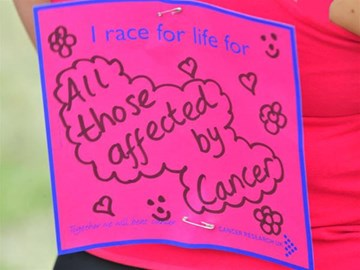 Race for Life Back Sign