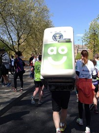 I believe I managed to overtake and keep ahead of the man carrying a 7 Stone fridge on his back