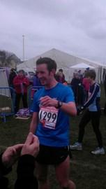 Eastbourne half-mar in March - freezing!