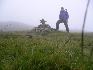 On way to Great Rigg, in cloud! 17/07/12