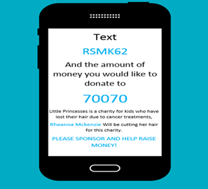 You can also text to sponsor/donate!