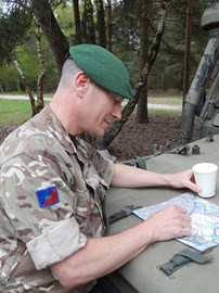 Clive carefully planning part of the route, with only 2 weeks to go.