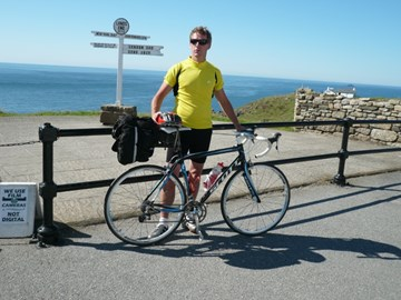 Mr Nicholls sets off from Lands End