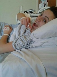 Me recovering from my epidural.