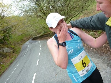 A surprise hug from Cath during the Brathay 10in10. So happy to see her & Alice I burst into tears!