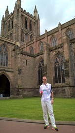 The start of the run at Hereford Cathedral