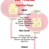 Vegetarian/Vegan Set Menu