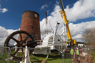 The cap removed from Horsey Windpump