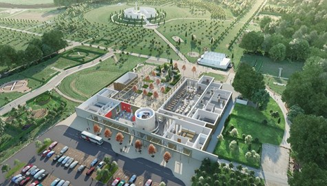 Cutaway plan of the new Remembrance Centre