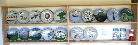Plates on display at Lochinver Mission