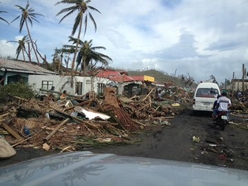 Some of the tens of thousands of homes in Leyte completely flattened by the typhoon, taken by Michael Javier