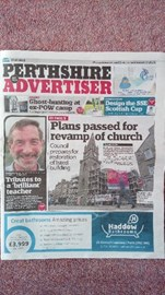 Perthshire Advertiser tribute, July 2018