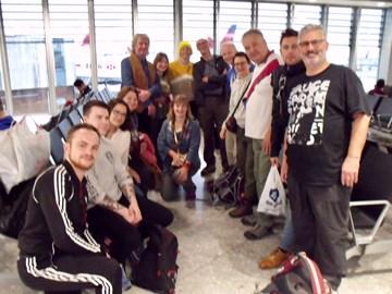 The adventure begins - Heathrow.