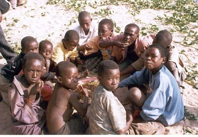 Street Children fed by New Generation
