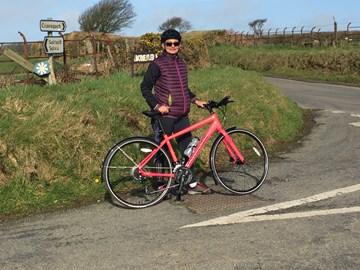Sahar's very pink bike!!