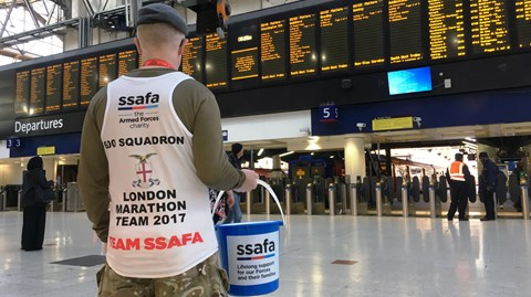 24/04/2017 (the Morning after the Marathon) Waterloo Bucket Collection