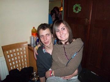 With my boyfriend, Rob.