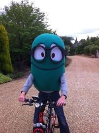 Worm Rides Bike