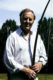 Robert Hardy CBE with warbow