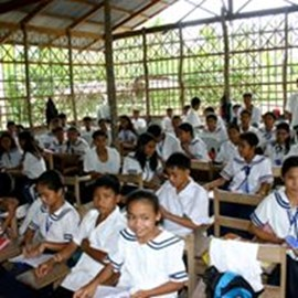 The original class room, back in the day all the students sat on the same classroom.