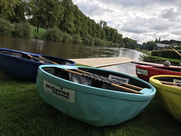 W R Davies' sponsored Coracle