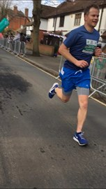 Go Simon! Finishing the Brentwood Half today!