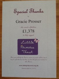 A certificate from the trust for gracie