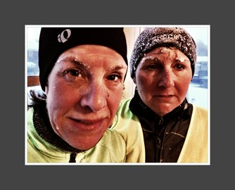 Prepared to train through the tough Maine winter for those with cancer who can't.
