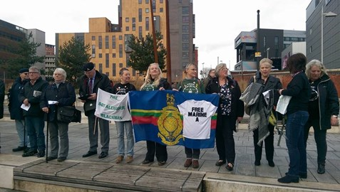 Marine Mums at the Support Rally in Birmingham