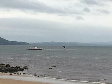 On the way - beaten the ferry