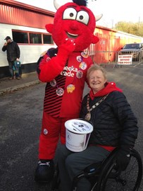 Bucket collection at Crawley Town FC