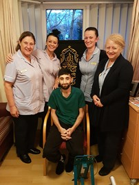 Devoted Pendleside Hospice Staff with Shabz