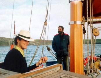 Baz and Paul Sailing 1991