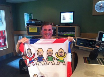Sir Terry Wogan with the Flag!