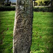 Ancient memorial stone in the churchyard believed to be 5th century