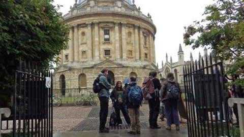 0 miles: Radcliffe Square, Oxford