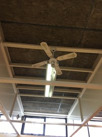 Ceiling lights and uninsulated roof