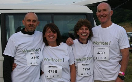 The four intrepid walkers before the off