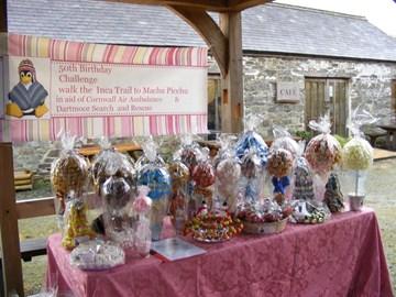 selling and raffling  my sweet trees helped raise £200