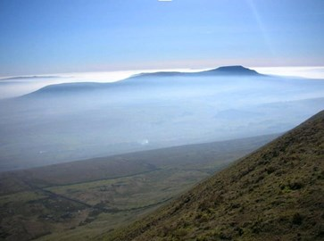 View of Ingleborough summit plateau