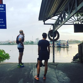 Dawn by the river in Saigon - 4 weeks to go to VMM!