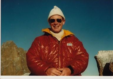 Mount Kenya in THE brown jacket!