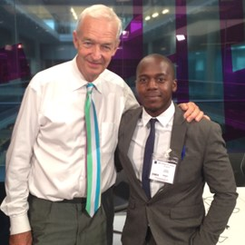 I was able to spend the day and keep contact with Channel 4 journalist Jon Snow through the Amos Bursary