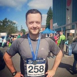 Dave, after completing the Hatters Half Marathon in September 2015